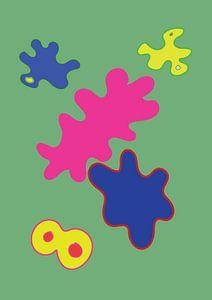 Eine fröhliche und farbenfrohe grafische Illustration