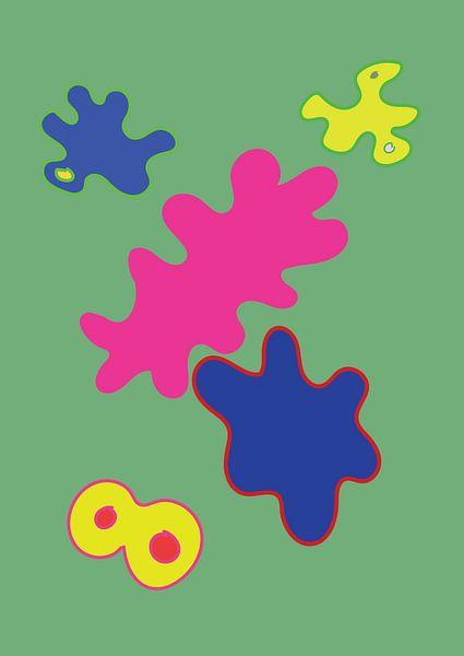 Eine fröhliche und farbenfrohe grafische Illustration von Francisca Snel
