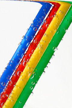 Kleurrijke luchtbellen in water van