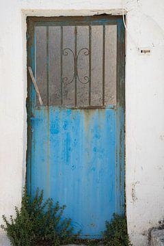 Turquoise deur van Barbara Brolsma