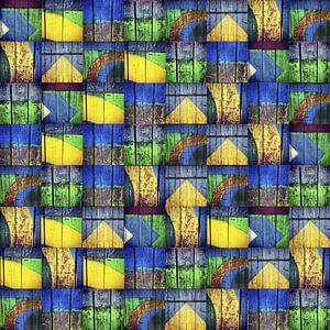 Vintage Wood Mosaic