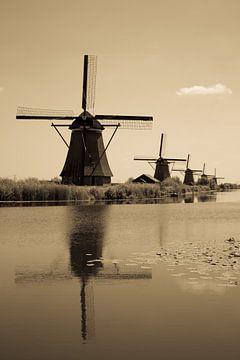 De Windmolen Sepia van Daan en Nienke van de Meeberg