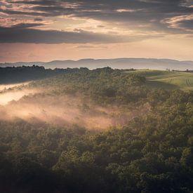 Een Toscaanse ochtend van Edwin Mooijaart