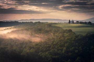Een Toscaanse ochtend von Edwin Mooijaart