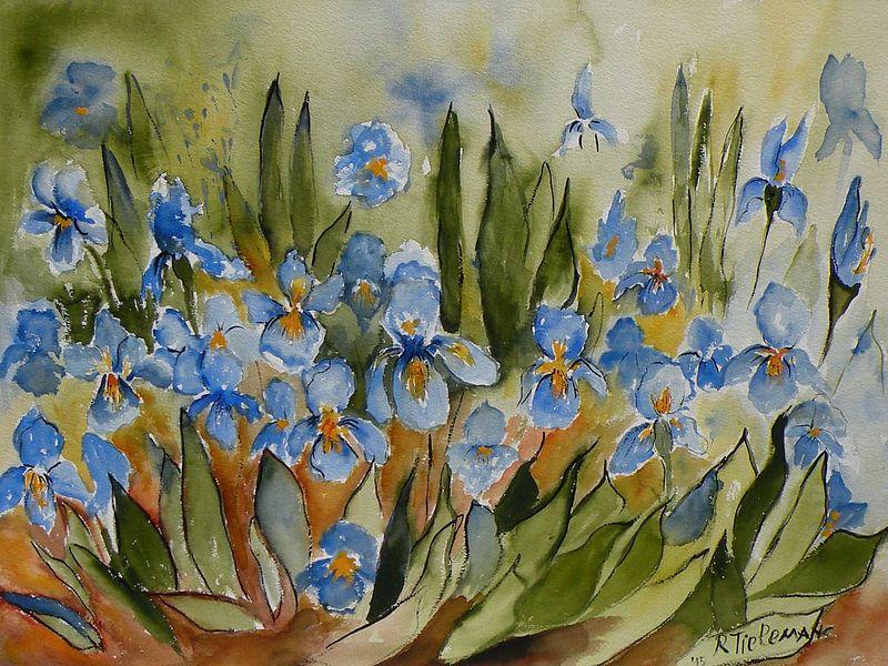 Blauwe Irissen van Rita Tielemans