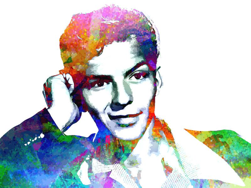 Frank Sinatra (Jung) Abstraktes Porträt von Art By Dominic