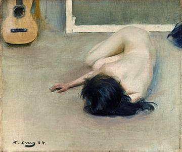 Nackt mit einer Gitarre,1894 von Atelier Liesjes