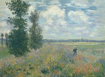 Klaproosvelden bij Argenteuil, Claude Monet sur