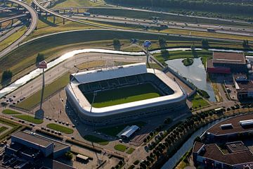 Luchtfoto ADO Stadion te Den Haag van Anton de Zeeuw