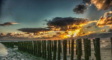 zoutelande zonsondergang van
