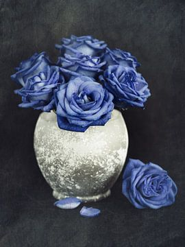 Roses bleues sur Lorena Cirstea