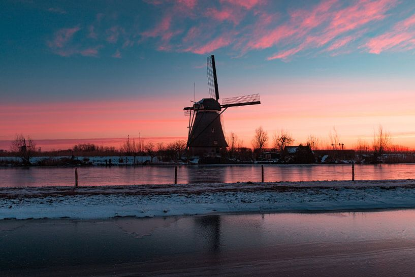 Kinderdijk winter 3 van Nuance Beeld