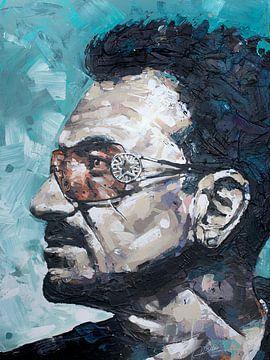 Bono, U2 schilderij van Jos Hoppenbrouwers