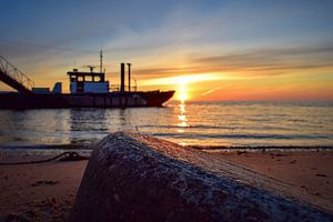 Zonsopkomst Waddenzee Texel van