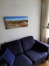 Klantfoto: Panorama Texel duinlandschap / Texel dune landscape van Justin Sinner Pictures ( Fotograaf op Texel), op canvas