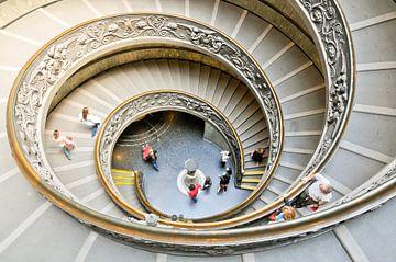Dubbele wenteltrap in de Vaticaanse Musea van Lars-Olof Nilsson