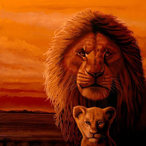 Das Gemälde des Königs der Löwen von Paul Meijering