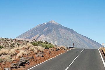 El teide vulkaan op tenerife van
