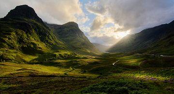 Sonnenuntergang in Glencoe (Schottland) von Jimmy Sorber