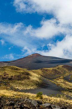 Zicht op de vulkaan Etna in de zomer op Sicilië, Italië van WorldWidePhotoWeb