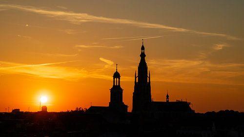 Breda Sunset Grote Kerk