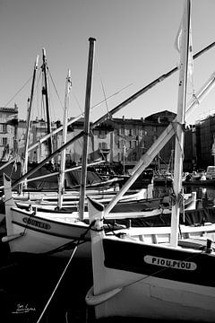 Die Fischerboote von Saint-Tropez von Tom Vandenhende