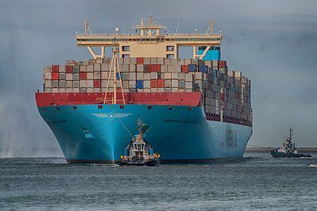 Maersk Mckinney Moller vaart Rotterdamse haven in