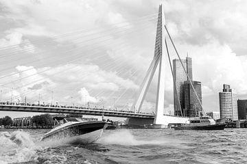 Rotterdam, Haven,  Deloitte kantoor, Erasmusbrug von Henriëtte Hoffs