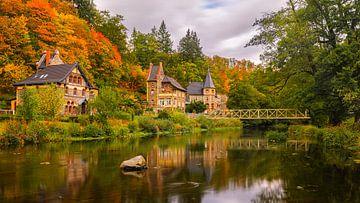 Herbst in Treseburg, Deutschland