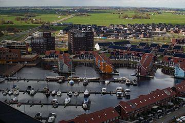 Reitdiephaven Groningen aus der Höhe. von Hans Deen