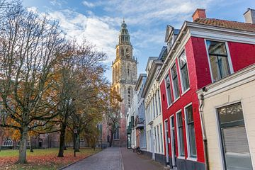 Martinitoren in de herfst in Groningen van Marc Venema