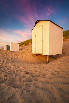 Chalets de plage à Domburg sur Thom Brouwer