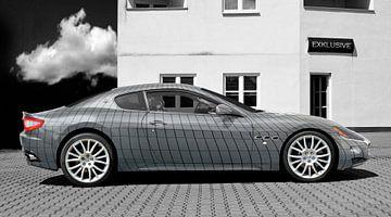 Maserati GranTurismo in Zilver Kunstauto van aRi F. Huber