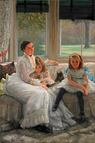 Porträt von Frau Catherine Smith Gill und zwei ihrer Kinder, James Tissot von Meesterlijcke Meesters
