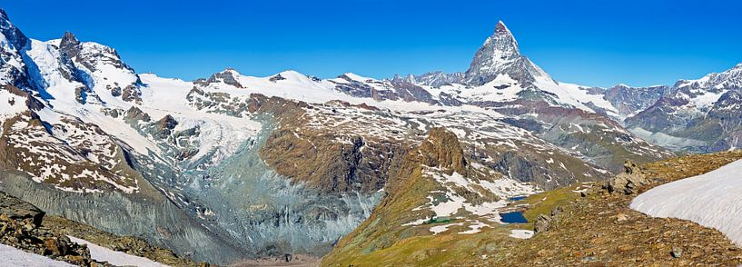 Panorama van de Alpen van Anton de Zeeuw
