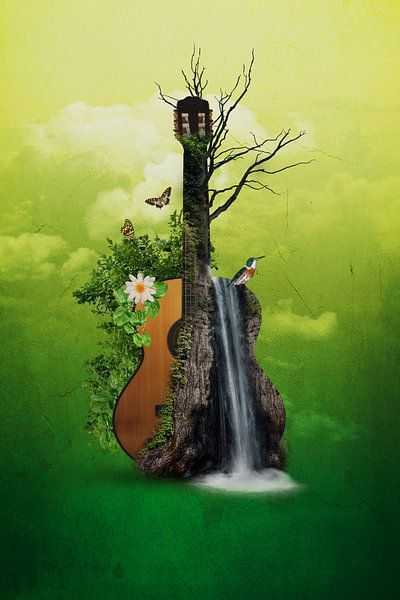 Akustik-Gitarre - Abstrakt von Ursula Di Chito