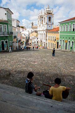 Largo do Pelourinho, Salvador de Bahia van Martijn Mureau