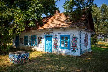 Mit Blumen bemaltes Haus in Zalipie von Antwan Janssen