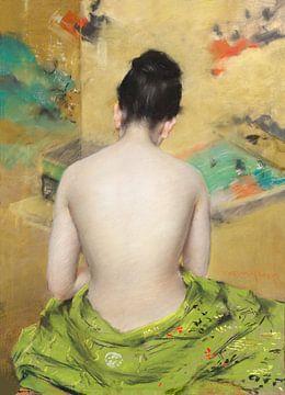 Studie mit Fleischfarbe und Gold, William Merritt Chase