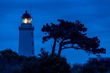 Der Leuchtturm am Dornbusch zur blauen Stunde. von Stephan Schulz