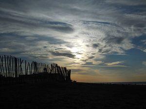 Rare lucht op het strand