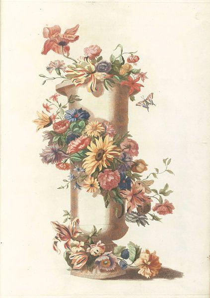 Zylindrische Vase mit Blumengirlande, anonym von Meesterlijcke Meesters