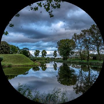 Rivier reflectie van Rene Siebring