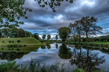 Réflexion de la rivière sur Rene Siebring