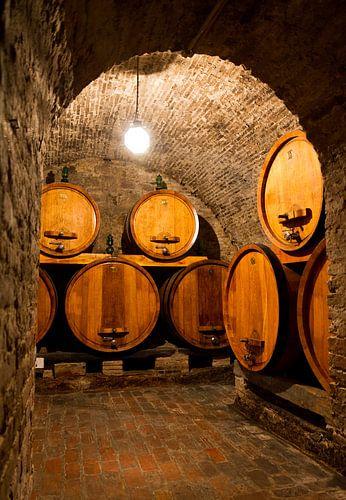 Wijnkelder canvas wijnkelder poster of wijnkelder dibond - Wijnkelder ...