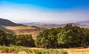 Panorama van het Rifgebergte. Marokko