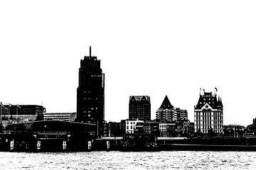 Rotterdam vanaf de Maaskade /Noordereiland. van Marianne Twijnstra-Gerrits