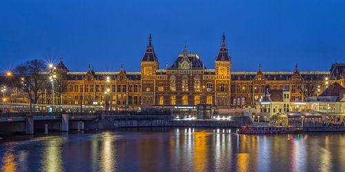 Amsterdam Centraal Station in de avond - 1 van Tux Photography