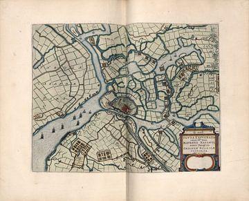 Sluis, Stadsplattegrond Joan Blaeu 1652 van Atelier Liesjes
