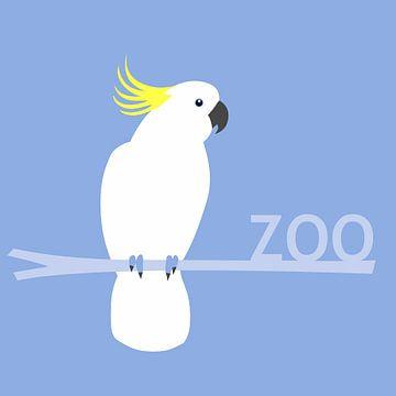 Kakadu-Zooschild von Studio Mattie